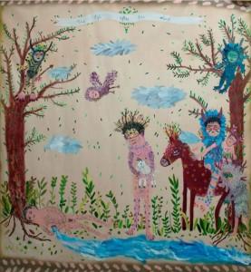 dalla personale di pittura di Andrea Fiorino
